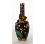 A Gilt Bronze And Cloisonné Enamel Vase - 25 Ko
