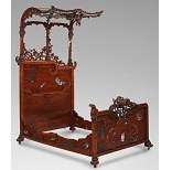 Ornate Chinoiserie Bed - 9.6 Ko
