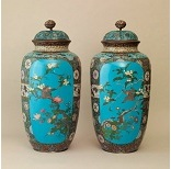 An Enamelled Cloisonne Pair Of Vases - 12 Ko