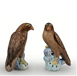 A Porcelain Pair Of Hawks - 8.5 Ko