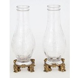 Pair Of Cut And Engraved Cristal Vases - 6.3 Ko