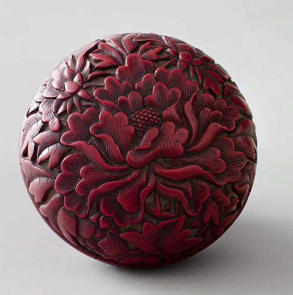 A Finely Carved Cinnabar Lacquer Box - 11Ko
